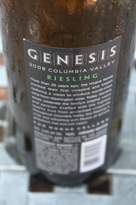 Hogue Genesis Columbia Valley Riesling - Sweating!