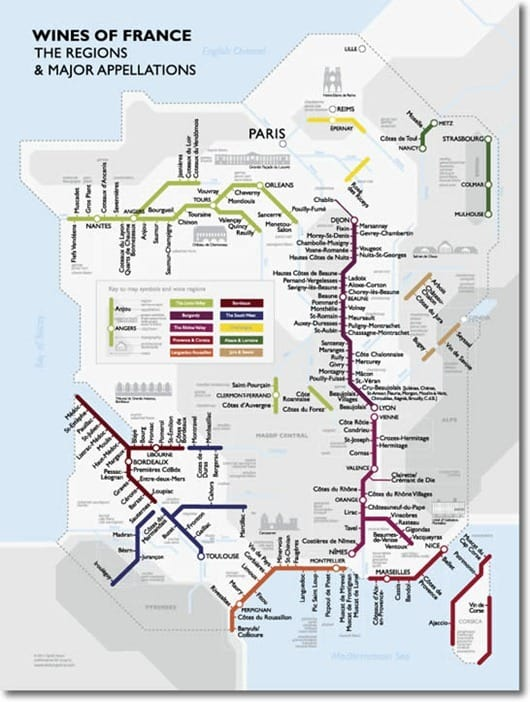 David Gissen French Metro Map Guide to Wine