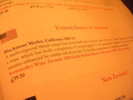 Blackstone Merlot - It Represents America.