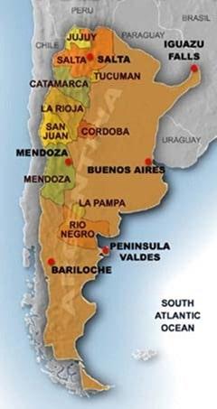 Argentina Wine Map
