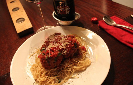 Lamb Meatballs with Cumin, Mint, and Tomato Sauce  (2)