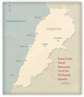 Lebanon Wine Map