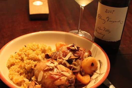 Slow Cooker Moroccan Chicken Paired with Palmaz Riesling