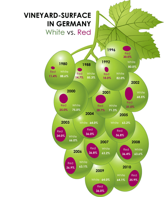 Vineyard-Surface in Germany Wine Infograph