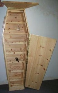 The Wine Bottle Coffin. The perfect gift for someone you hate.