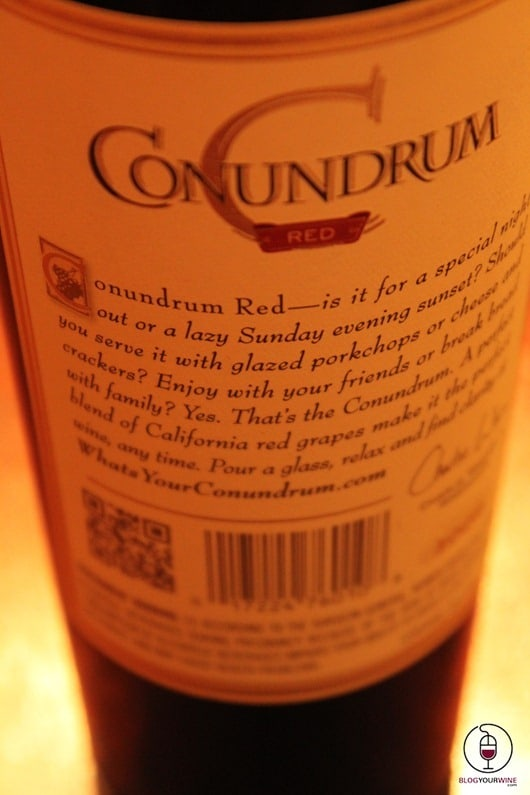 Conundrum Back Label