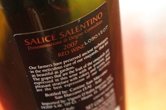 Masseria Pietrosa Salice Salentino from Apulia, Italy.