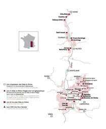 Rhone Wine Map
