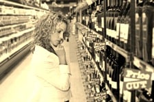 Shopping for wine - my favorite pastime!