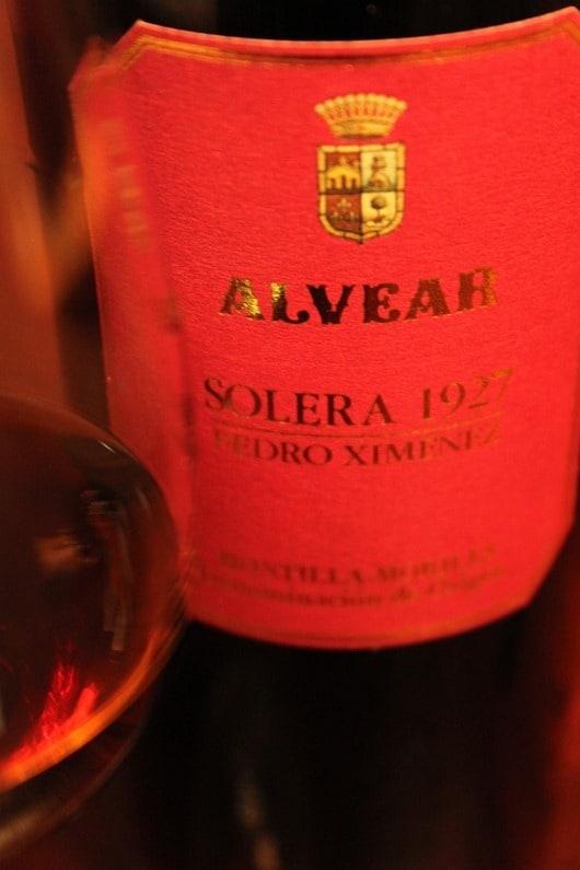 Alvear Solera 1927 Sherry.