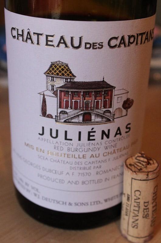 Chateau des Capitans Julienas, Beaujolais.