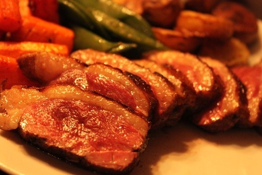 "Coffee-Roasted Duck Paired with HeartSmart ""For Giving"" Mount Veeder Cabernet, 2008"