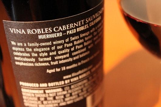 "Vina Robles Cabernet ""Huerhuero Vineyard"", Paso Robles, California, 2008"