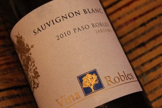"Vina Robles ""Jardine Vineyard"" Sauvignon Blanc, Paso Robles, California, 2010."