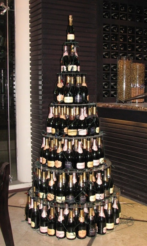 Champagne Bottle Christmas Tree
