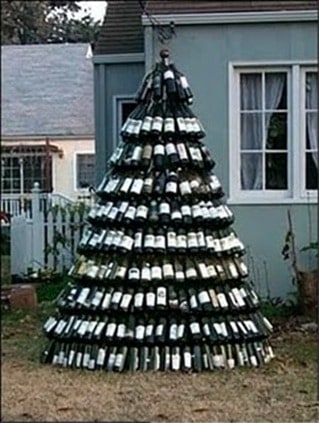 Wine Bottle Christmas Tree.