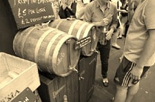 Wine in a barrel....it might get me through a weekend.