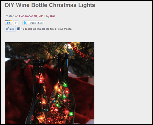 DIY Wine Bottle Christmas Lights