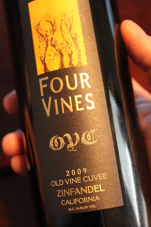 Four Vines Old Vine Cuvee Zinfandel, California.