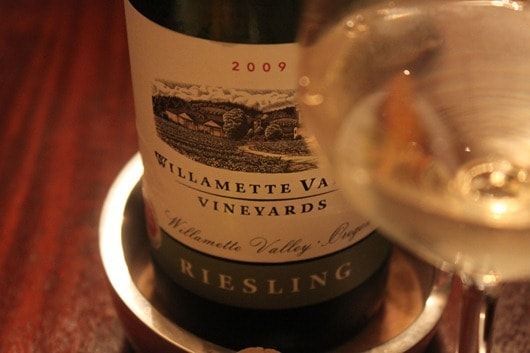 Willamette Valley Vineyards Riesling - I already had it open...