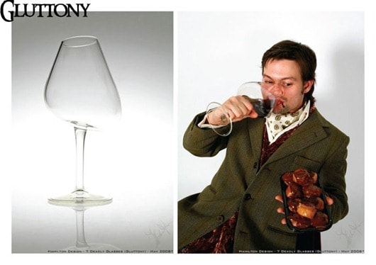 7 Deadly Wine Glasses - Gluttony