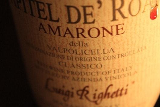 """Luigi Righetti """"Capitel de Roari"""" Amarone, Valpolicella, Italy, 2008"""