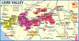 Loie Valley Wine Map