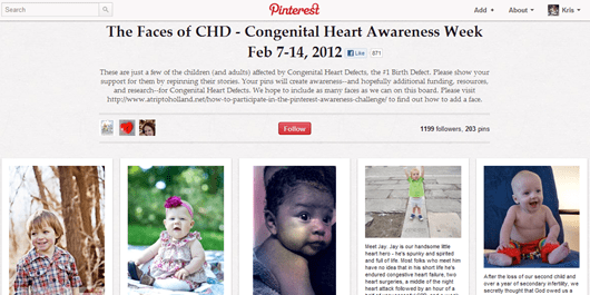 The Faces of CHD Congenital Heart Awareness Week on Pinterest