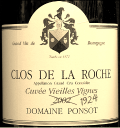 Domaine Ponsot 1924. I'm not an expert, but that bottle might be a fake...