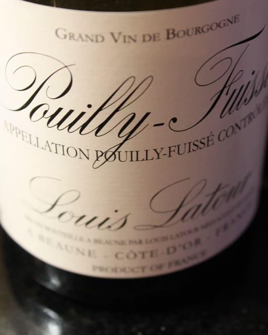 Louis Latour Pouilly-Fuisse, Burgundy, France, 2010.