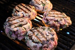 Tuna Burgers...not falling apart on the grill.