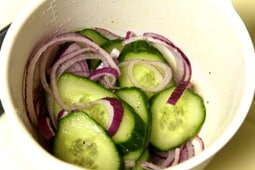 Onions and Cucumbers Marinating