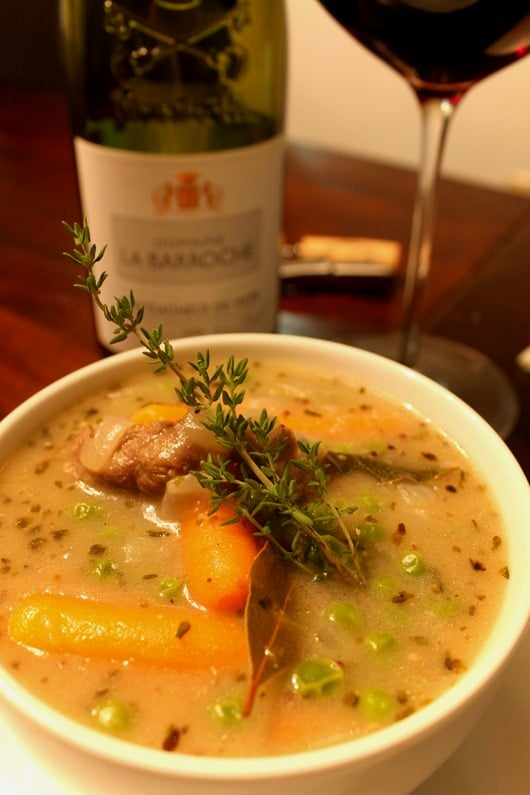 Domaine Barroche Chateauneuf de Pape Paired with Beef Stew with Belgian-Style Pale Ale.
