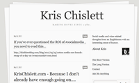 Kris-Chislett-Website