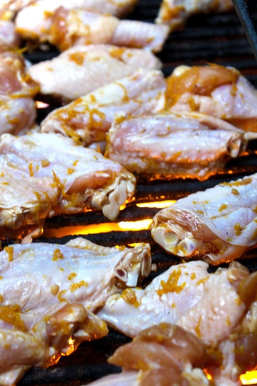 Orange-Glazed-Chicken-Wings-on-the-Grill