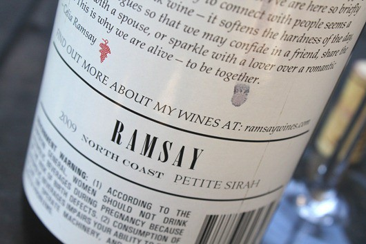 Ramsay Petite Sirah, North Coast, California.