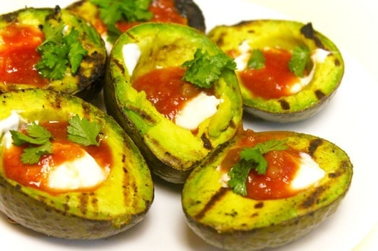 Grilled Chicken and Stuffed Avocadoes