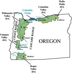 Oregon Wine Map
