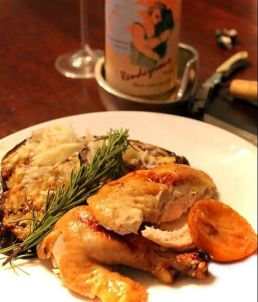 Roast-Chicken-with-Tangerines-Paired-with-Rendez-vous-Chardonnay-Clarksburg-California.