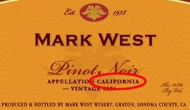 California-pinor-noir-wine-label