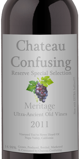Chateau-Confusing-Wine-Label