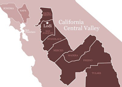 Lodi-Wine-Map