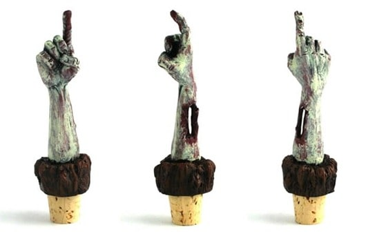 Zombie hand wine stoppers