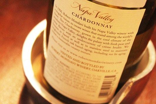 Robert Mondavi Napa Chardonnay.
