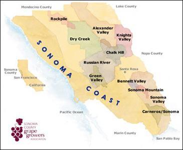 Sonoma Wine Map