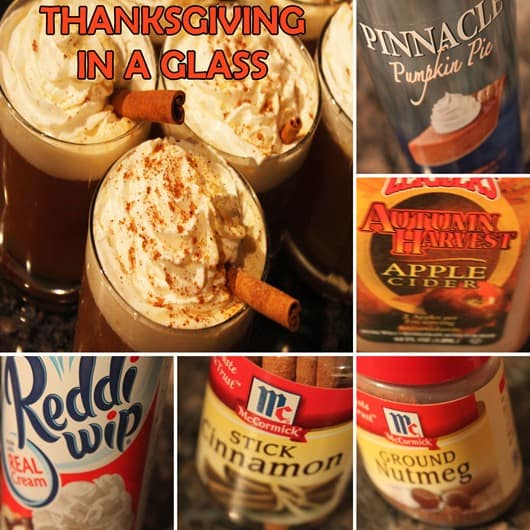 Recipe for Thanksgiving in a Glass.