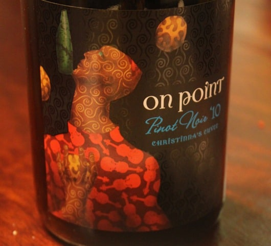 Interactive Wine Tasting: On Point Pinot Noir Christinna's Cuvee, North Coast California.