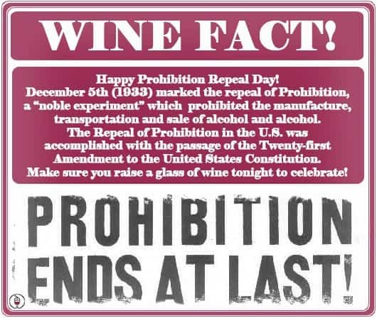 Happy Prohibition Repeal Day!