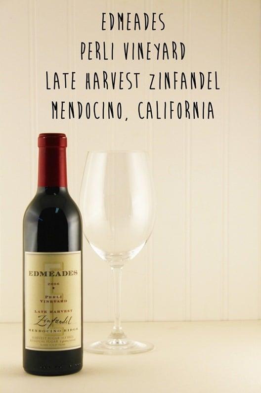 Edmeades Late Harvest Zinfandel, Mendocino, California.