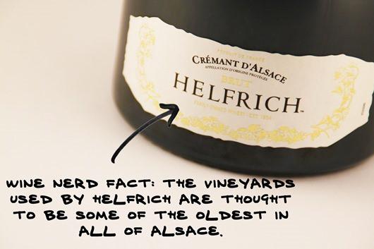 Helfrich Cremant d'Alsace, France.